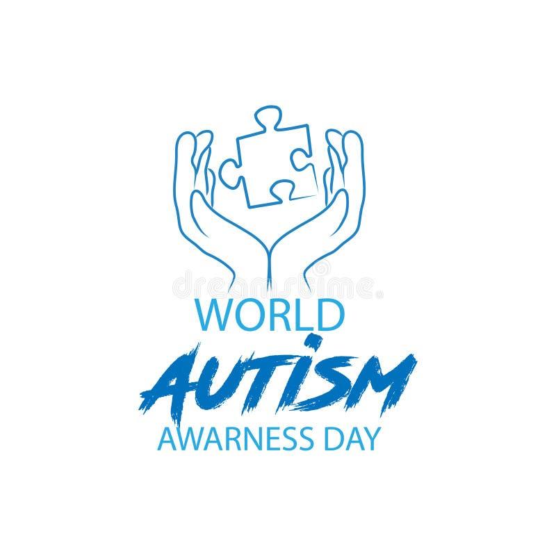 Dia da conscientização do autismo do mundo ilustração royalty free
