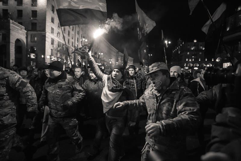 Dia da dignidade e da liberdade em Ucrânia imagens de stock