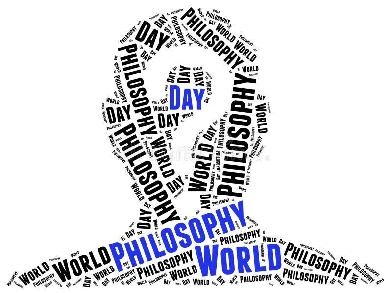 Dia da filosofia do mundo ilustração do vetor