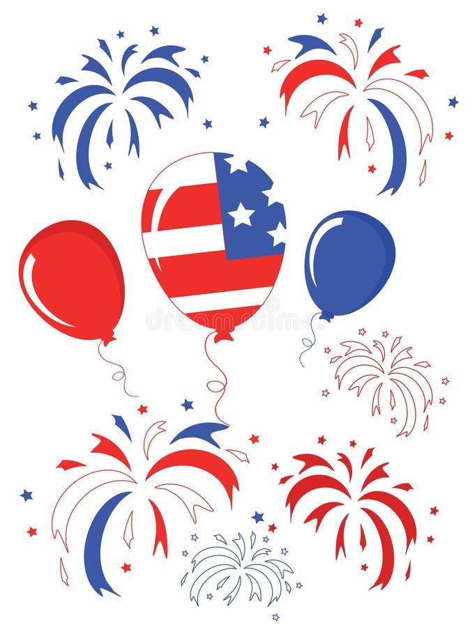 Dia da Independência, balões ilustração royalty free