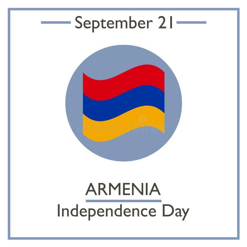 Dia da Independência de Armênia, o 21 de setembro ilustração stock