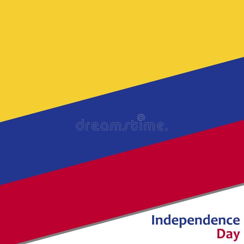 Dia da Independência de Colômbia ilustração stock