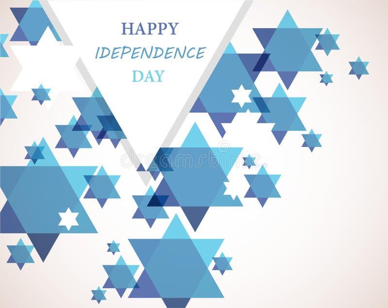 Dia da Independência de Israel. Fundo da estrela de David ilustração do vetor