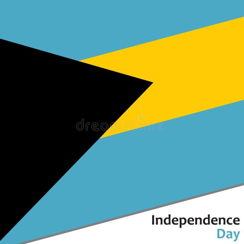 Dia da Independência do Bahamas ilustração royalty free