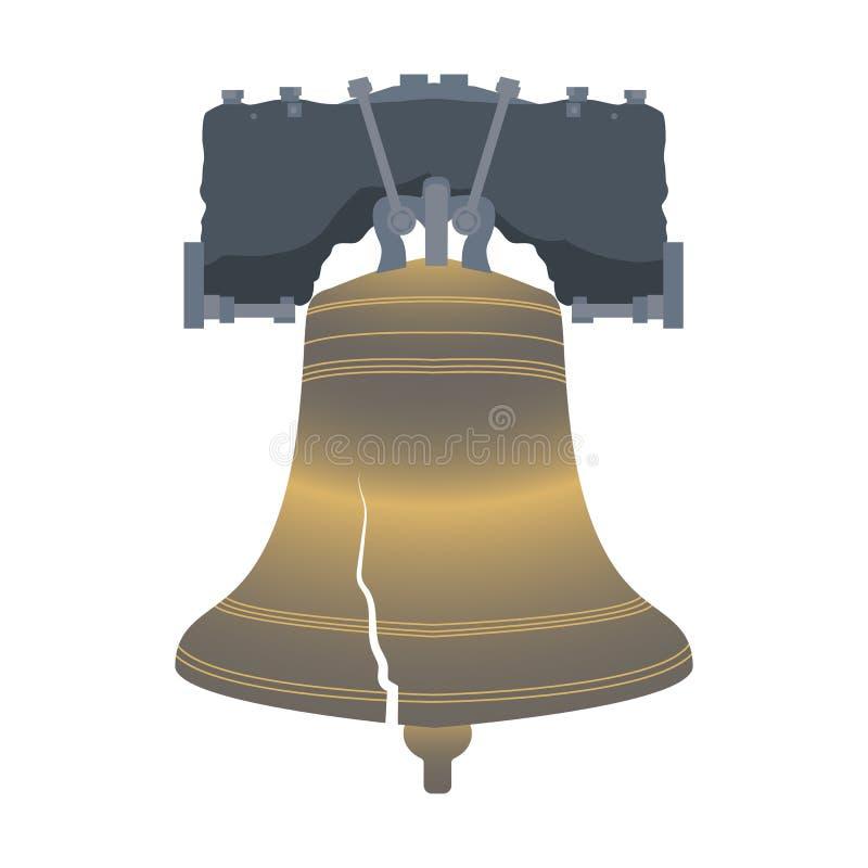 Dia da Independência dos EUA Liberty Bell ilustração do vetor