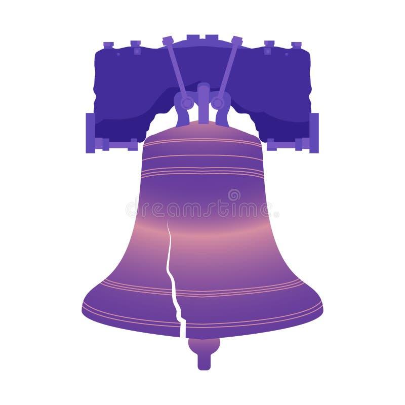 Dia da Independência dos EUA Liberty Bell ilustração stock