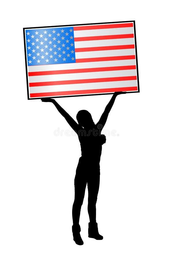 Dia da Independência Estados Unidos Conceito da liberdade ilustração royalty free