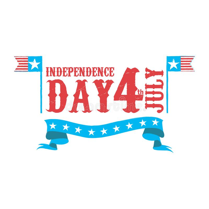 Dia da Independência feliz ô julho ilustração do vetor