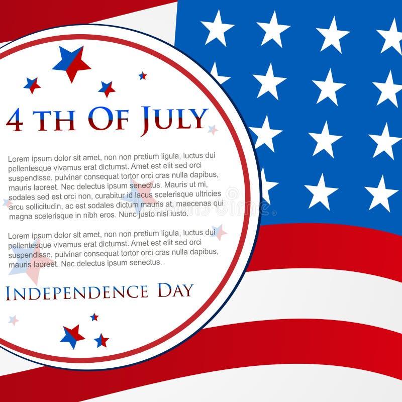 Dia da Independência feliz ô julho ilustração stock