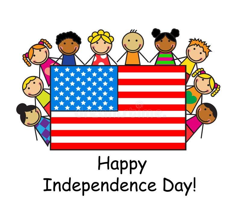 Dia da Independência feliz! ilustração stock