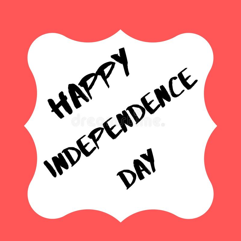Dia da Independência feliz 2019 EUA ilustração do vetor