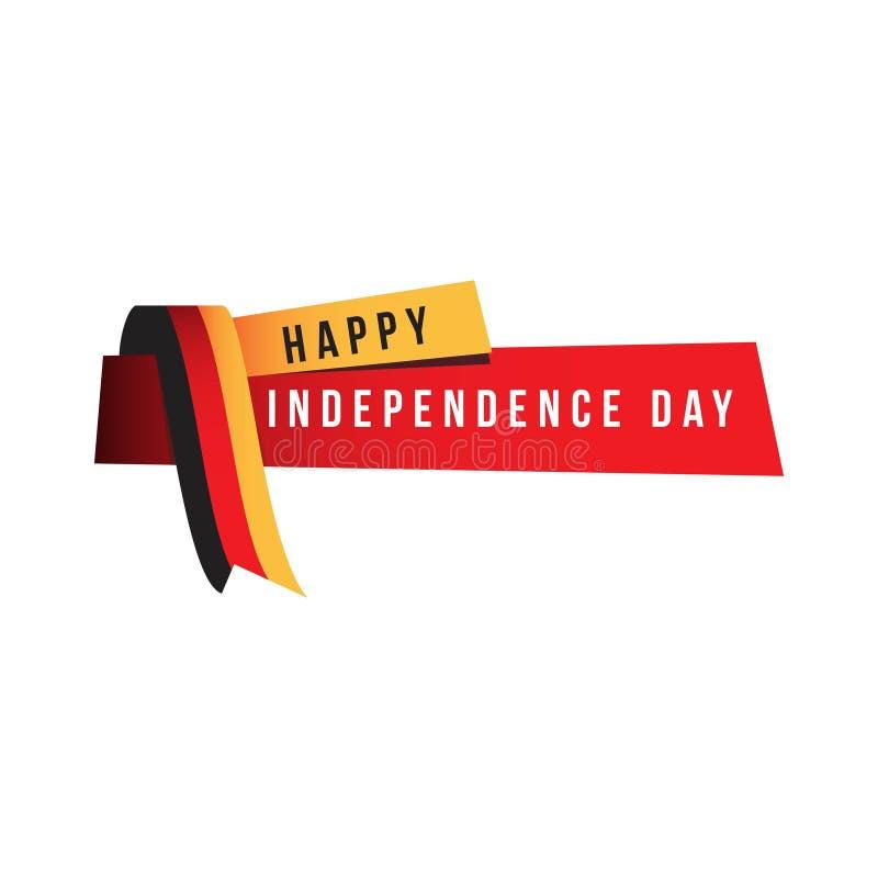 Dia da Independência feliz Logo Vetora Template Design Illustration ilustração do vetor