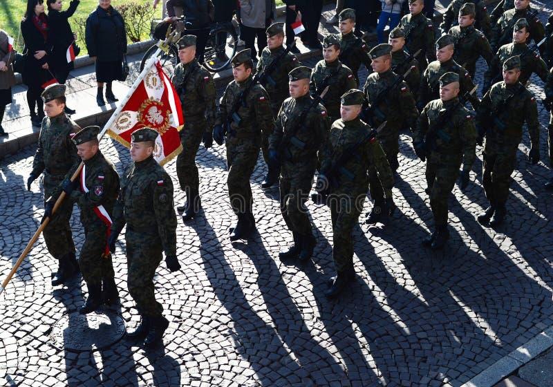 Dia da Independência nacional, Polônia imagens de stock