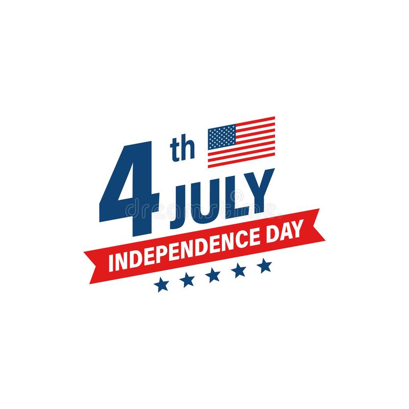 Dia da Independência 4o dos EUA de feriado de julho Bandeira de Estados Unidos da Am?rica Bandeira feliz do Dia da Independ?ncia  ilustração stock