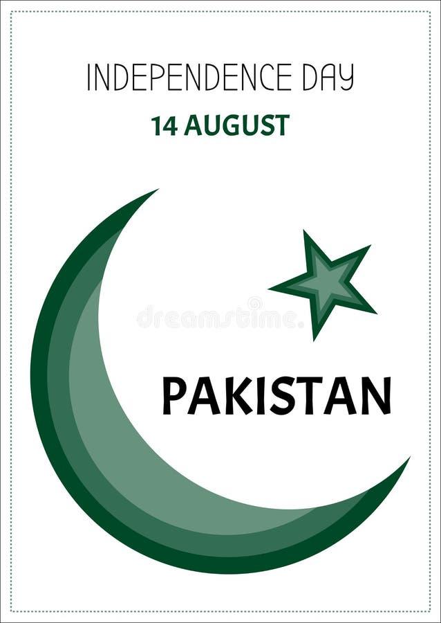 Dia da Independência Paquistão 14 de agosto imagem de stock royalty free