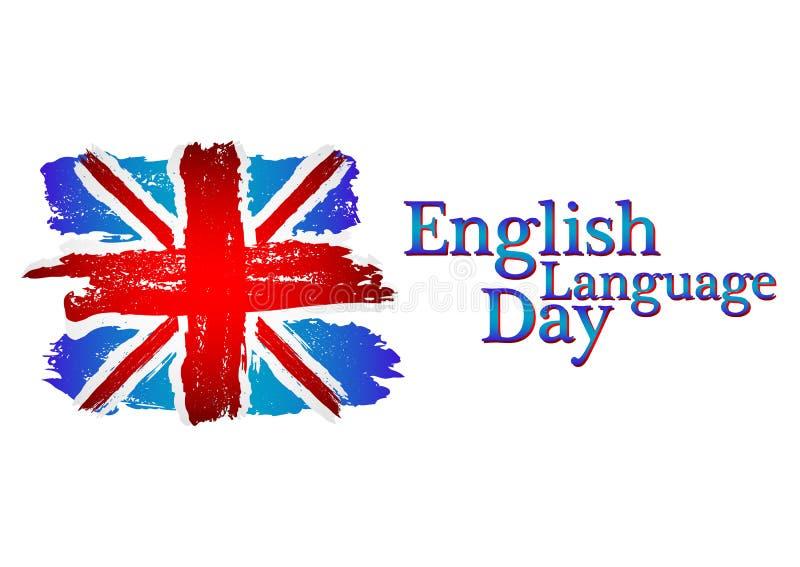 Dia da língua inglesa ilustração royalty free