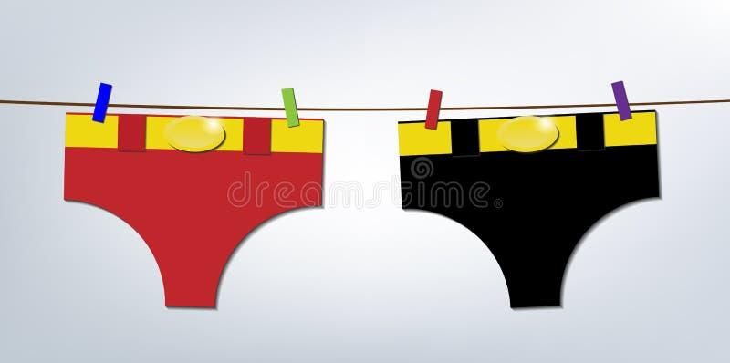 Dia da lavanderia dos super-herói ilustração stock