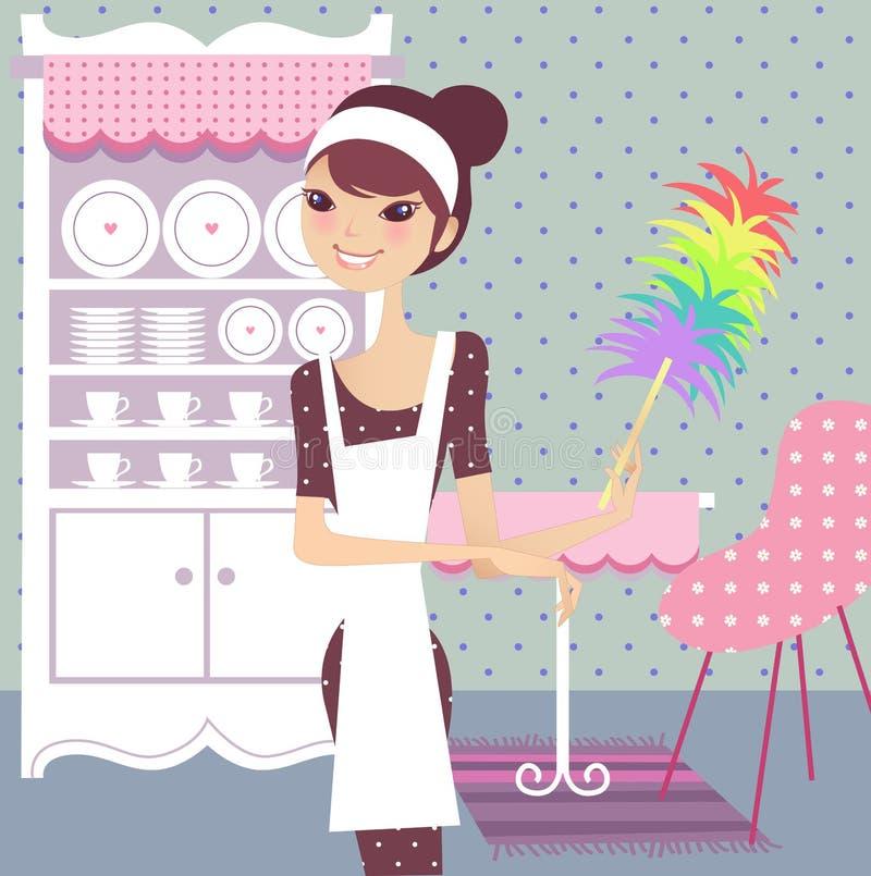 Dia da limpeza em casa ilustração do vetor