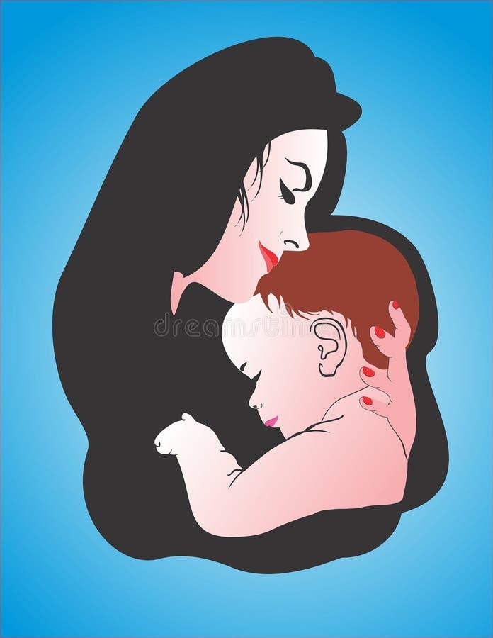 Dia da mãe da mamã da criança da mãe fotografia de stock
