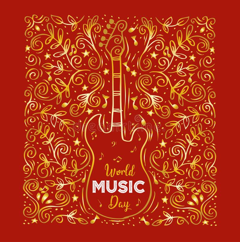 Dia da música do mundo ilustração royalty free