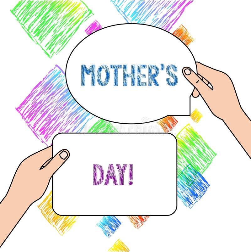 Dia da m?e S da exibi??o do sinal do texto Dia conceptual da foto do ano onde as mães são honradas particularmente pelas crianças ilustração do vetor
