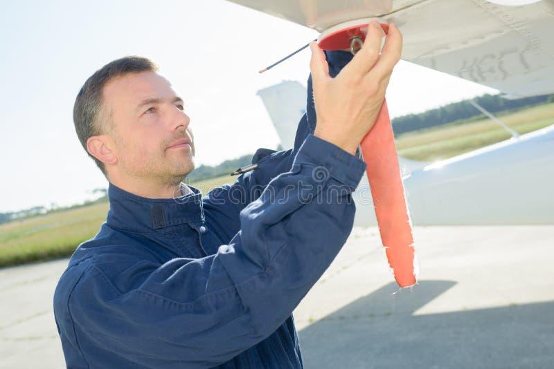Dia da manutenção para aviões fotos de stock