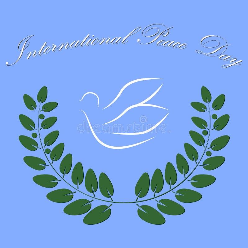 Dia da paz de Intetrnational do símbolo da pomba ilustração stock