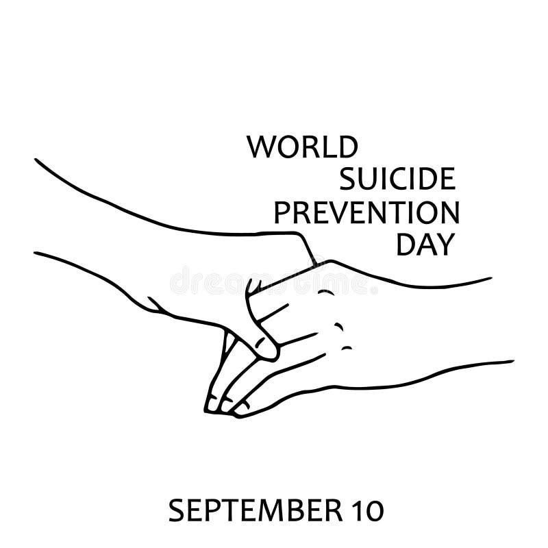 Dia da prevenção do suicídio do mundo ilustração do vetor