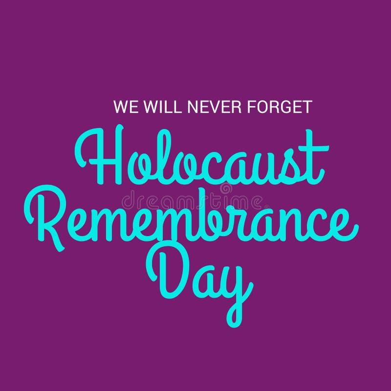 Dia da relembrança do holocausto ilustração royalty free