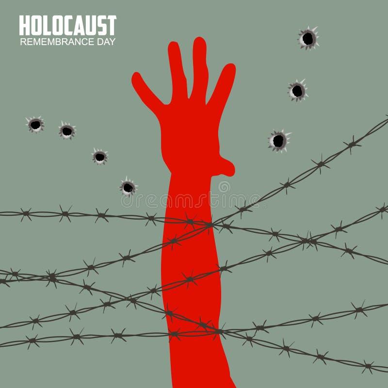 Dia da relembrança do holocausto ilustração stock