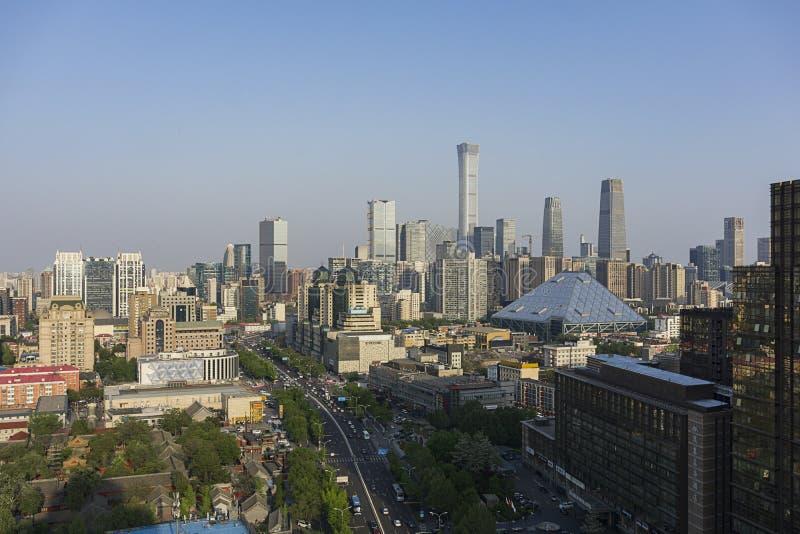 Dia da skyline do Pequim imagem de stock