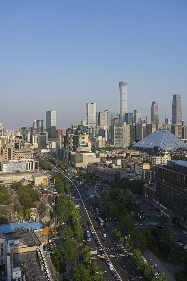 Dia da skyline do Pequim fotografia de stock royalty free