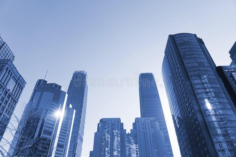 Dia da skyline do Pequim foto de stock