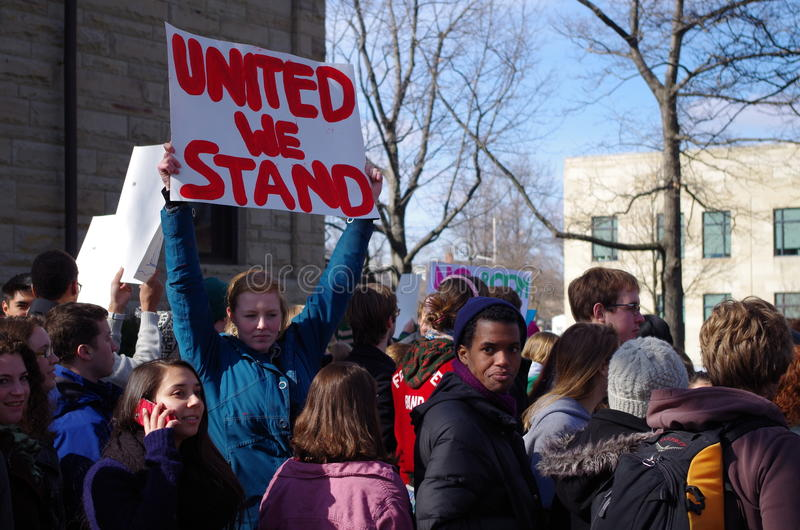 Dia da solidariedade na faculdade de Oberlin fotos de stock royalty free