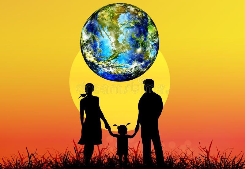 Dia da Terra ilustração do vetor