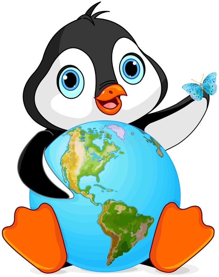 Dia da Terra do pinguim ilustração do vetor