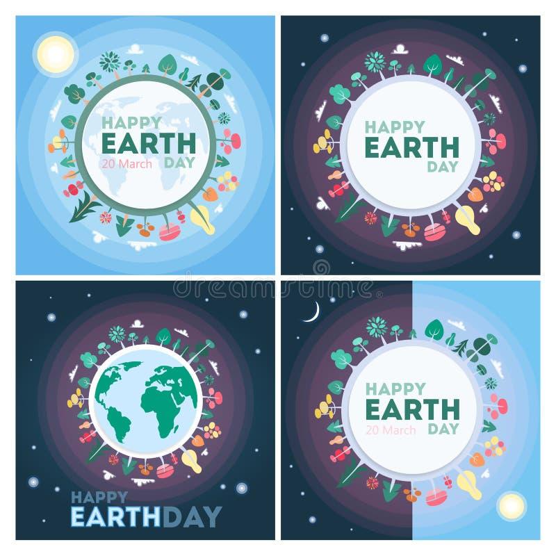 Dia da Terra feliz ilustração do vetor