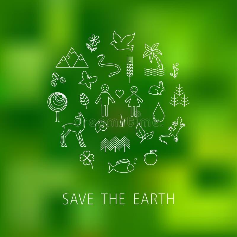 Dia da Terra internacional ilustração do vetor