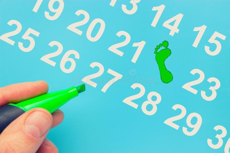 Dia da Terra marcado no calendário foto de stock royalty free