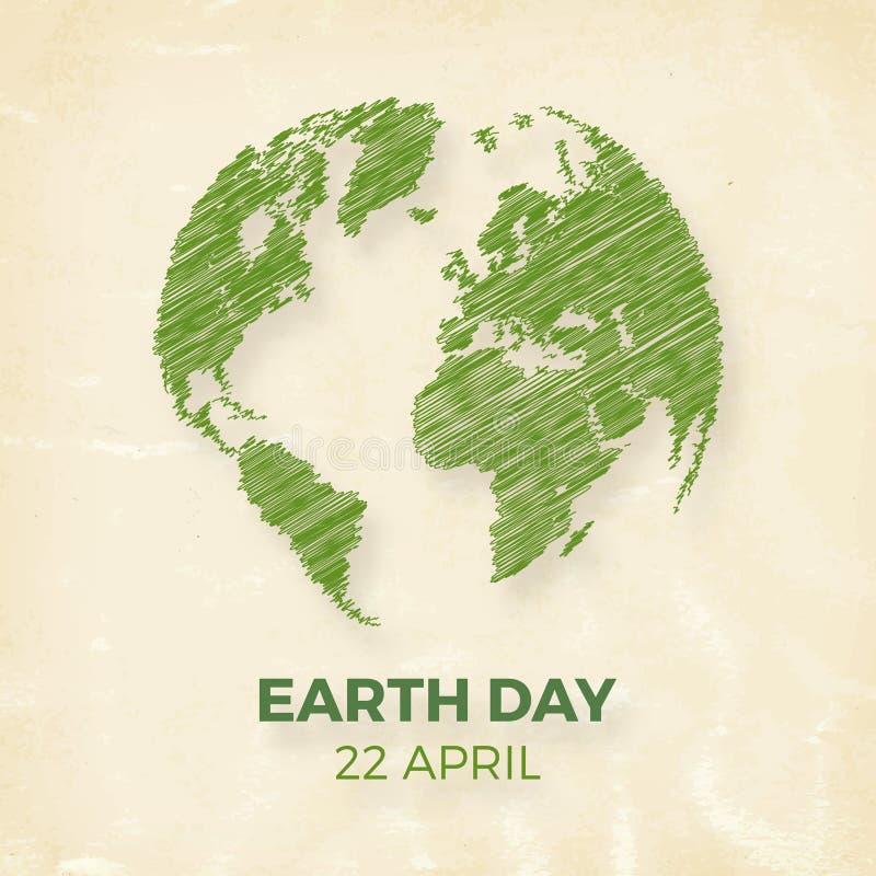 Dia da Terra, o 22 de abril ilustração do vetor