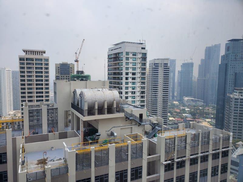 Dia da vista geral de Manila imagens de stock royalty free