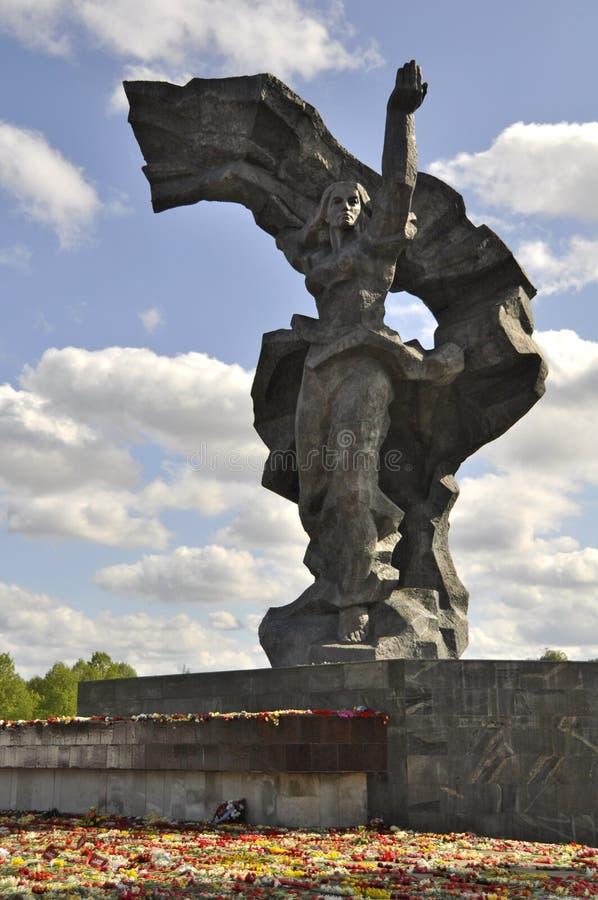 Dia da vitória, Letónia fotografia de stock