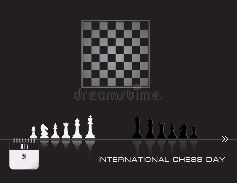Dia da xadrez do cartão ilustração stock
