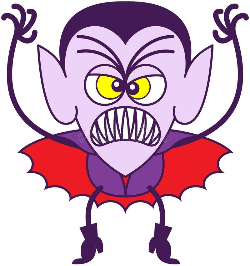 Dia das Bruxas assustador Dracula ilustração do vetor