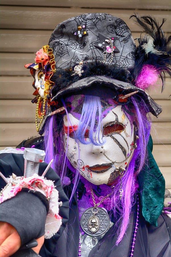 Dia das Bruxas em Harajuku, Tóquio, Japão imagens de stock