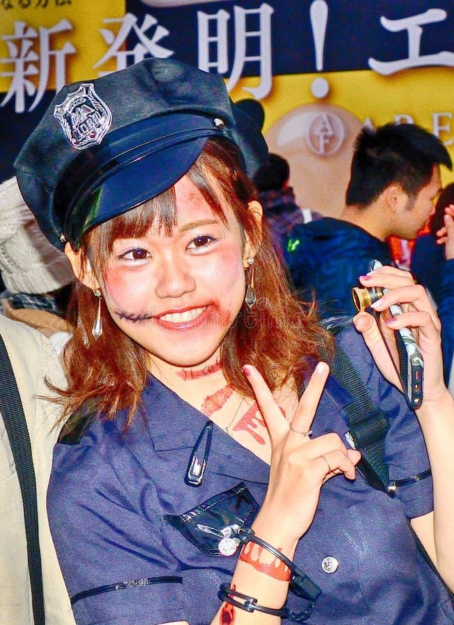 Dia das Bruxas em Shibuya, Tóquio, Japão imagens de stock