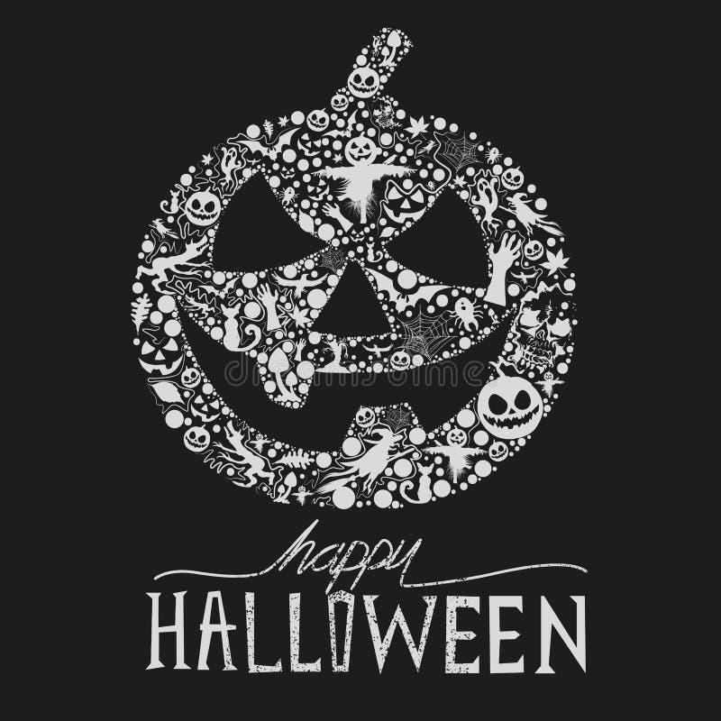 Dia das Bruxas feliz! ilustração do vetor