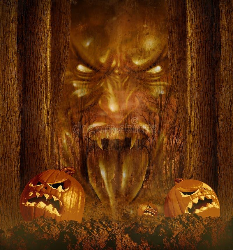 Dia das Bruxas Ghost ilustração do vetor