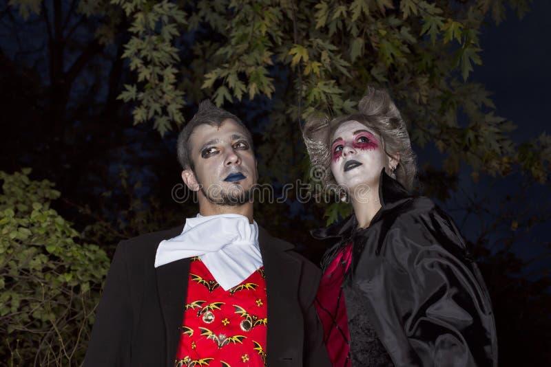 Dia das Bruxas, partido, fundo, carnaval, vestiu-se, mascara, vampiro, imagem de stock