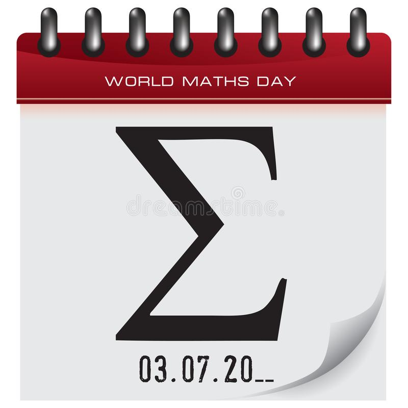 Dia das matemáticas do mundo ilustração do vetor